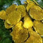 Chips de courgettes cajou curry