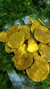 Chips de courgettes cajou curry